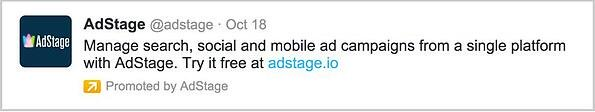 Twitter Ads promoted tweet example