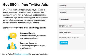$50 in free twitter ads credit
