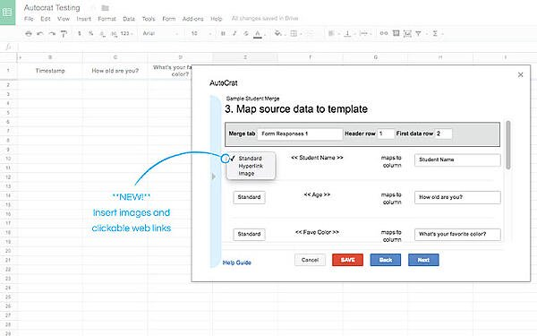 autocrat google sheets add on