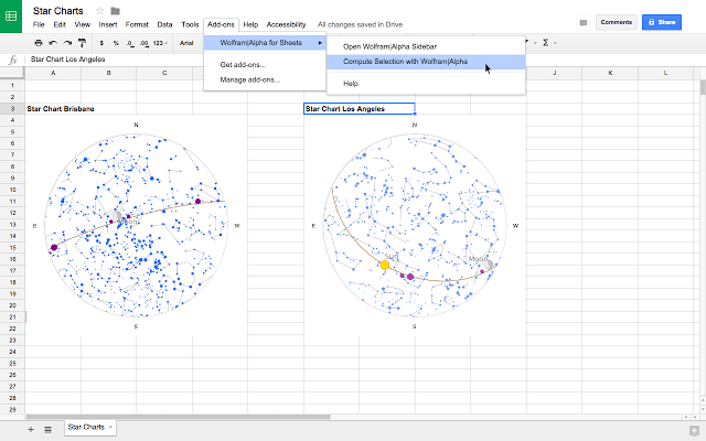Wolfram|Alpha for Google Sheets