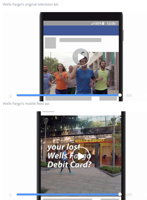 wells fargo facebook mobile video ads via blog.adstage.io