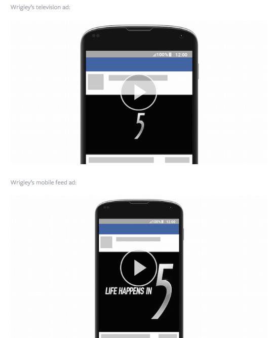 wrigley's facebook mobile video ads via blog.adstage.io