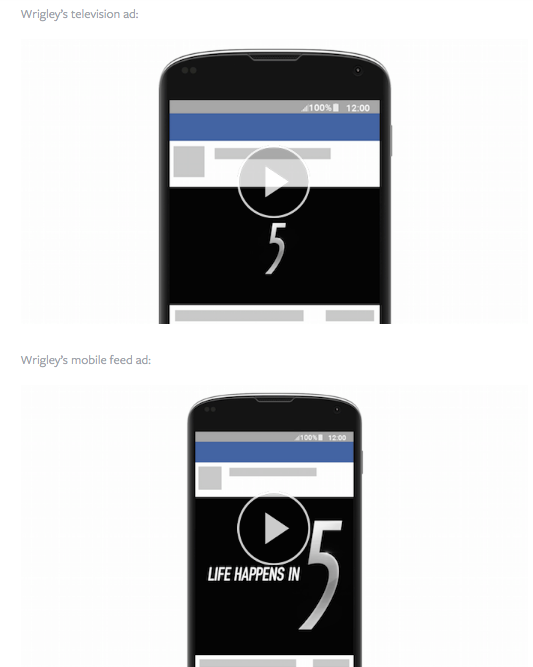 wrigley's facebook mobile video ads via blog.adstage.io