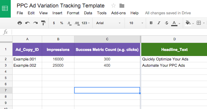 Quick Start Guide to Ad Variation Testing