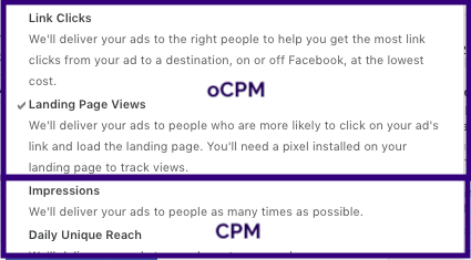 Learn About Facebook oCPM Bidding