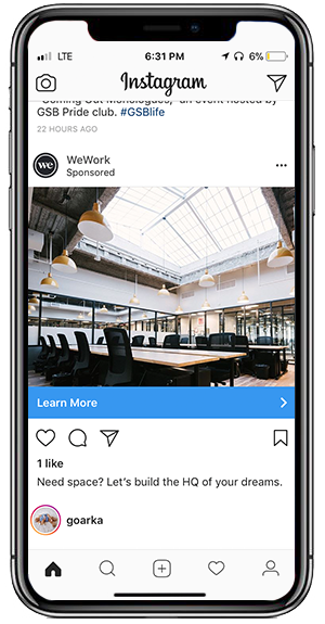 WeWork InstagramAd 300x575