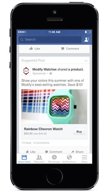 New Ad Type Could Offer a Way to Buy Products on Facebook