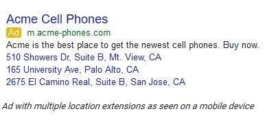 local ad multi locations