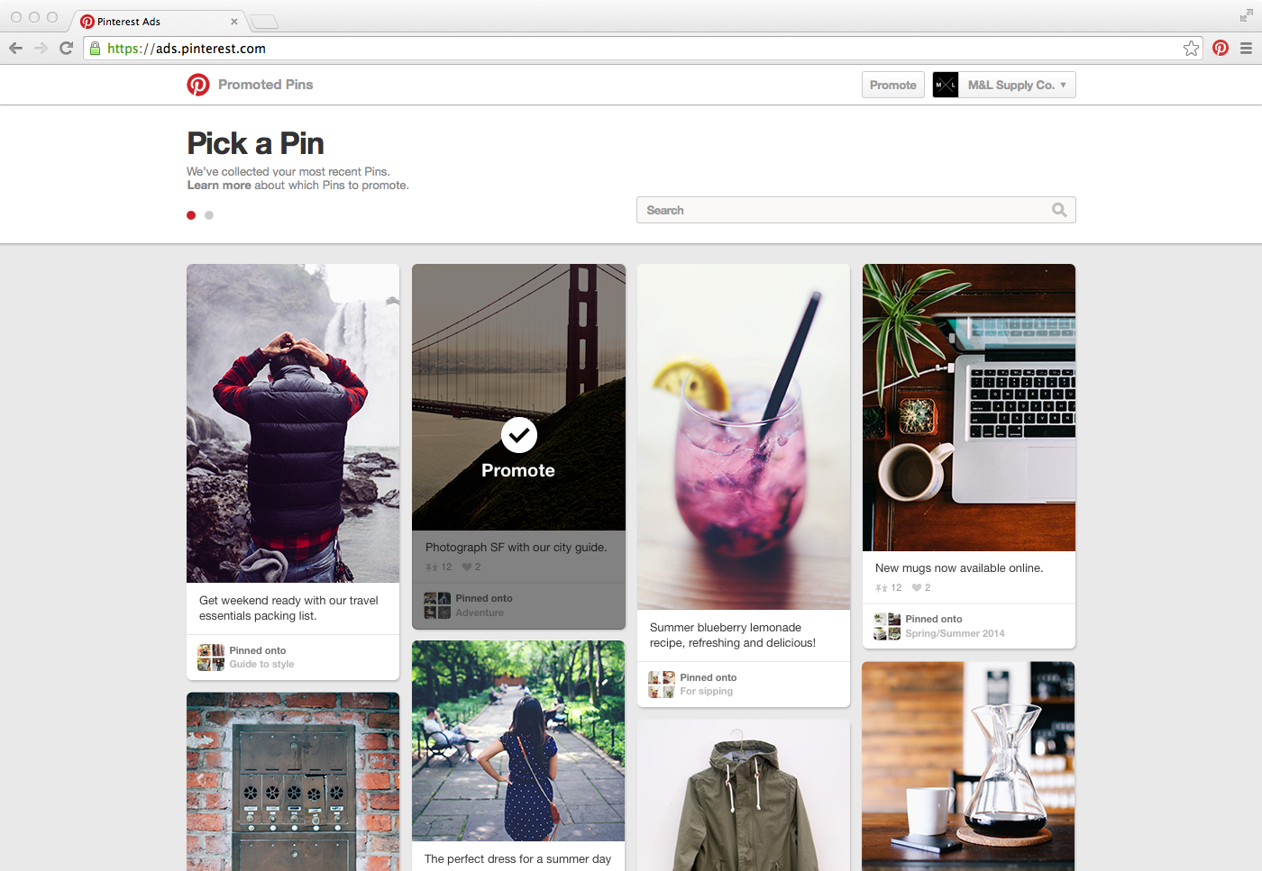 Pinterest Announces Self-Serve Promoted Pins